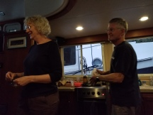 Allen and Lila cooking