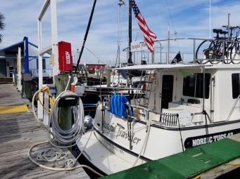 Docked at marina