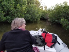 Dinghy ride included paddeling